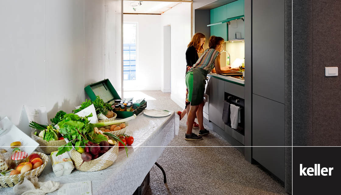 Keller kitchen in sustainable home LINQ