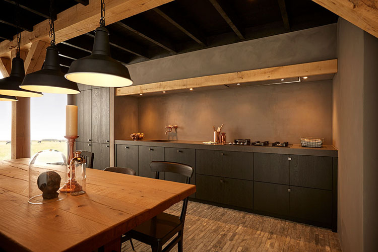 Country style kitchen trend Black Cottage