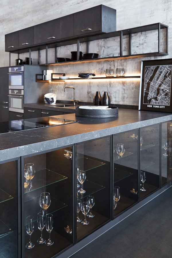 black metal kitchen trend
