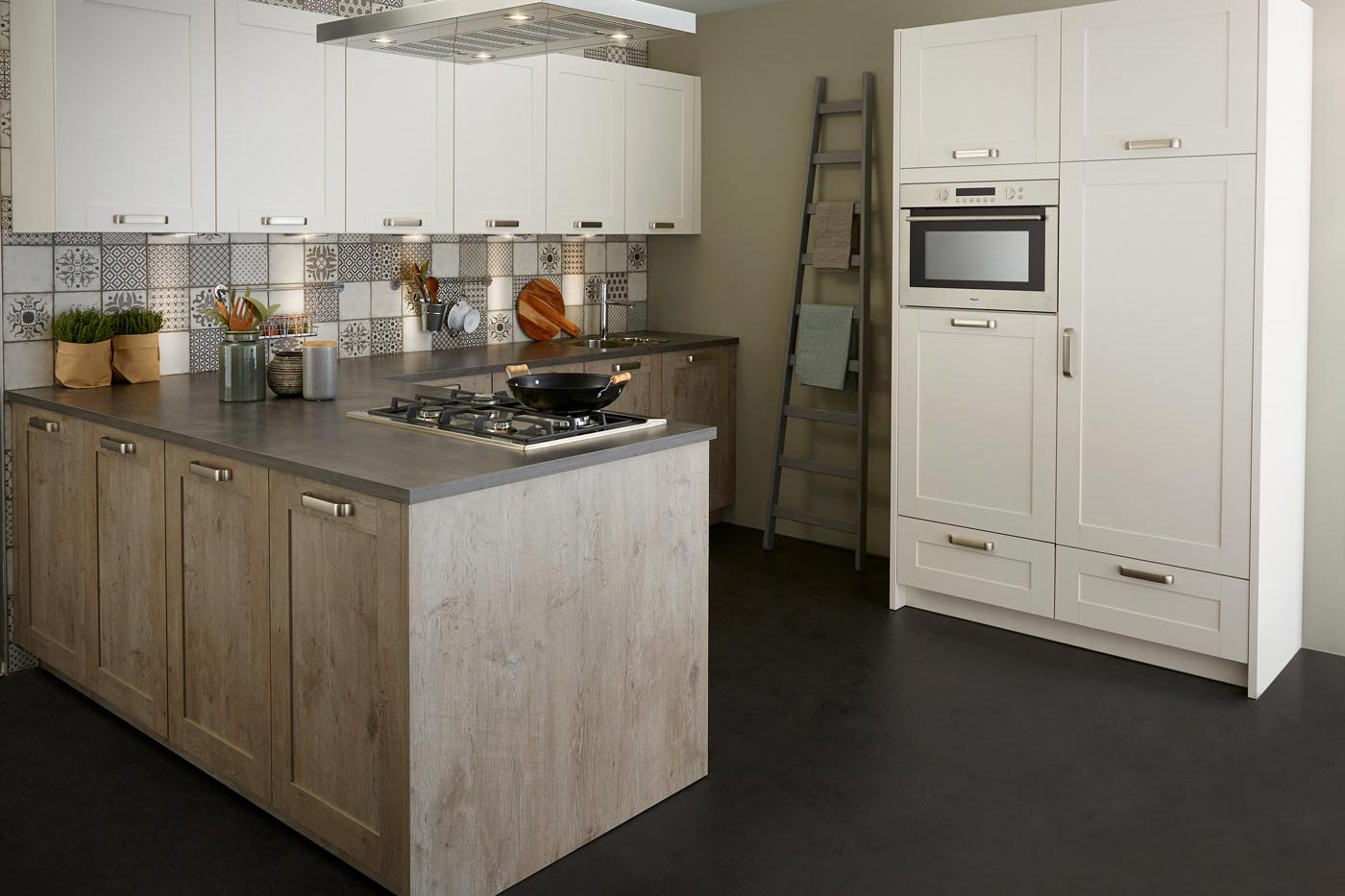 Countryside kitchen Cascada grey rustic oak