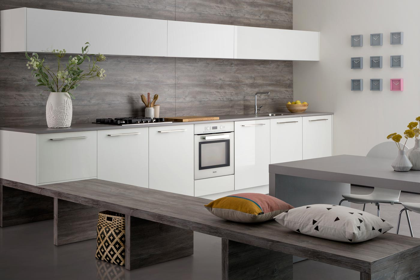 modern kitchen Elba high gloss white