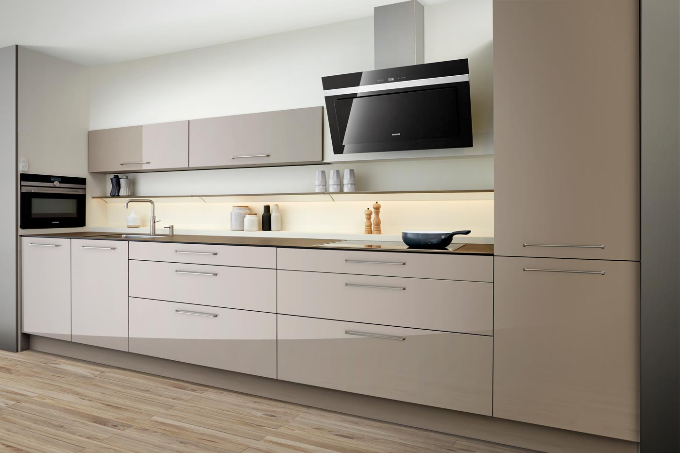 modern kitchen Elba high gloss clay