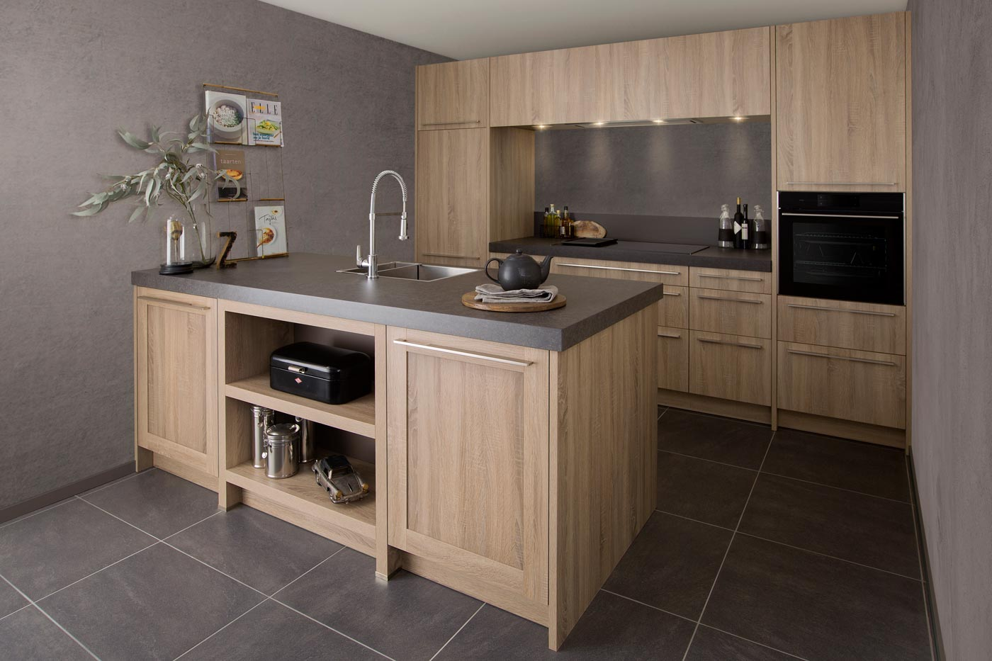 Wooden kitchen Elba Cascada washed oak