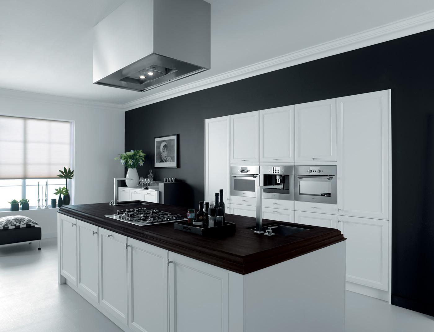 cooking island white lacquer