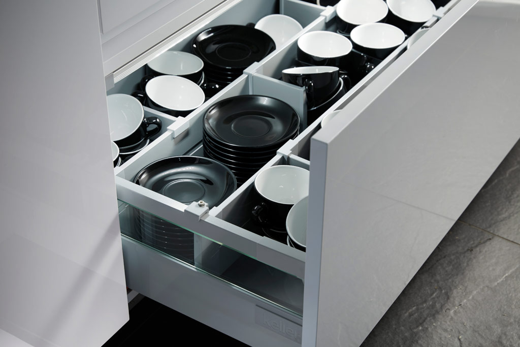Soft close kitchen drawers
