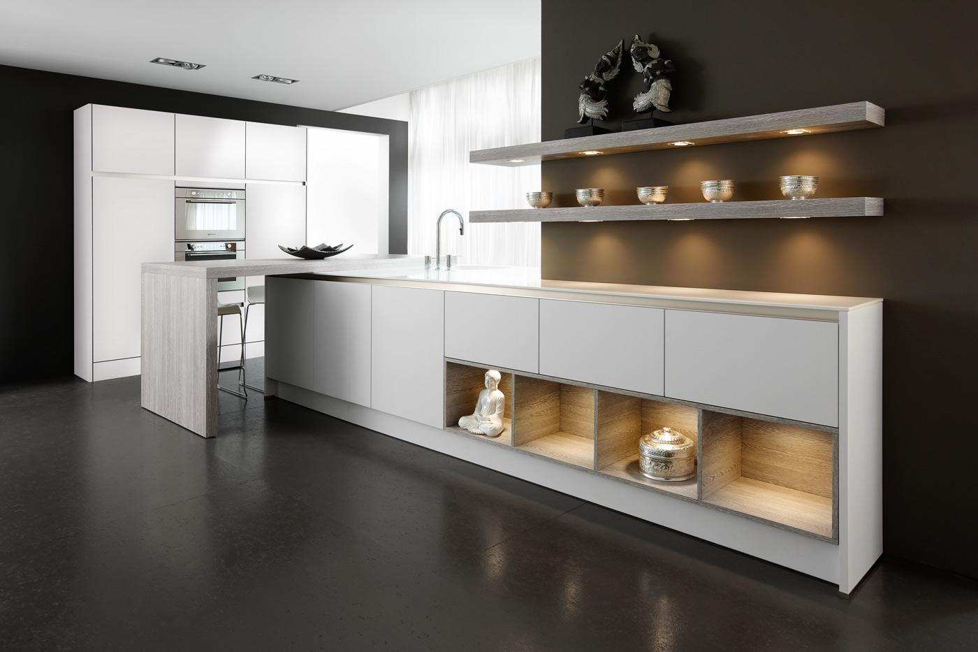 Handleless kitchen GL5100 ICE