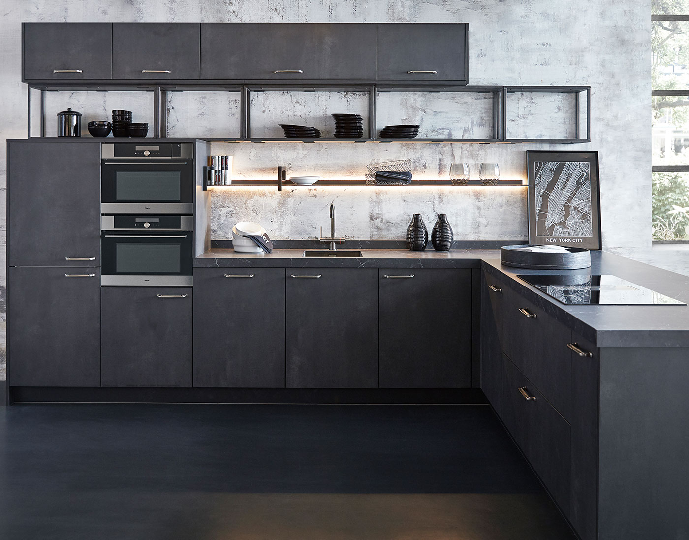 industrial kitchen bolton metal black