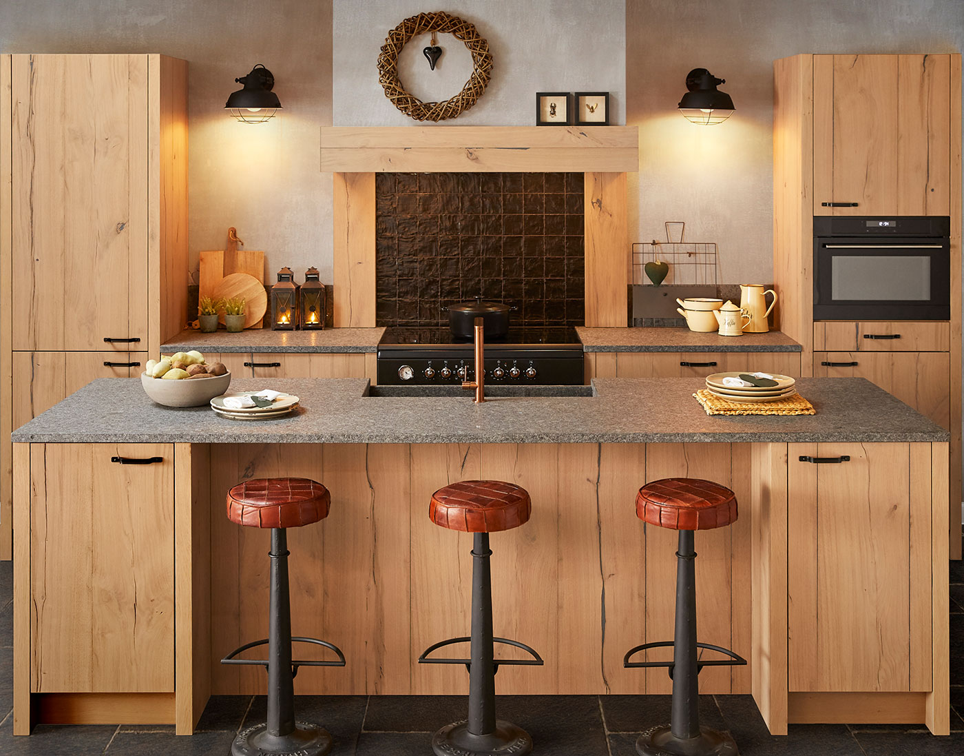 country style kitchen veneer