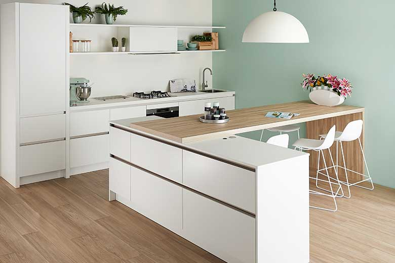 Scandinavian handleless kitchen design