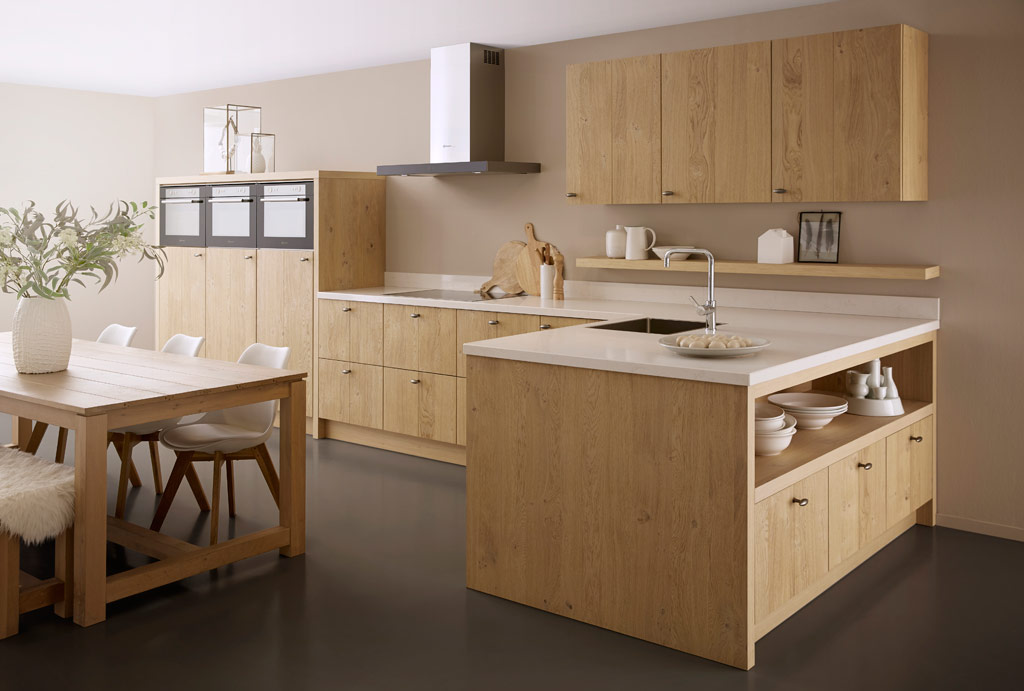detail of customized modern wooden kitchen